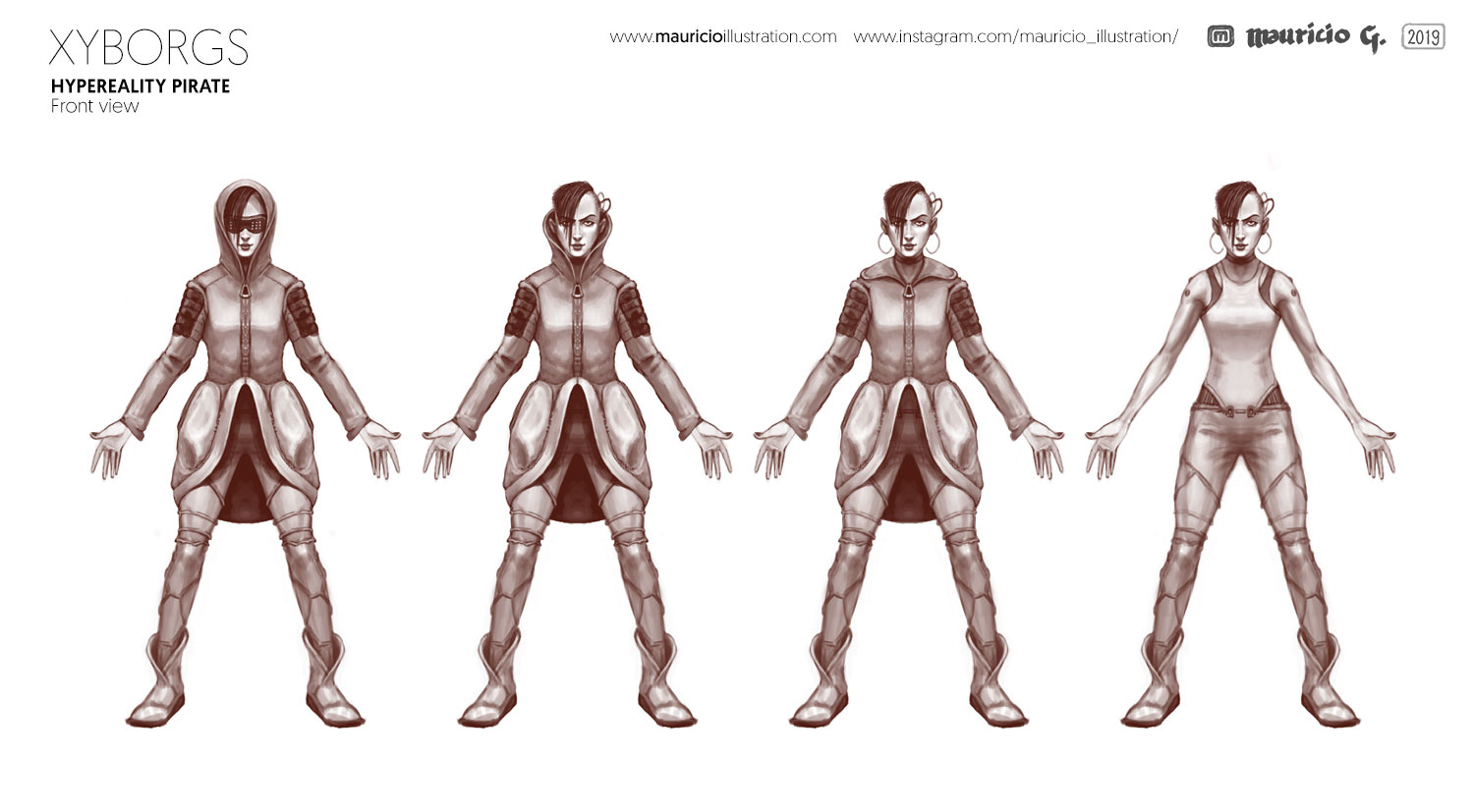 Xyborgs - character concepts